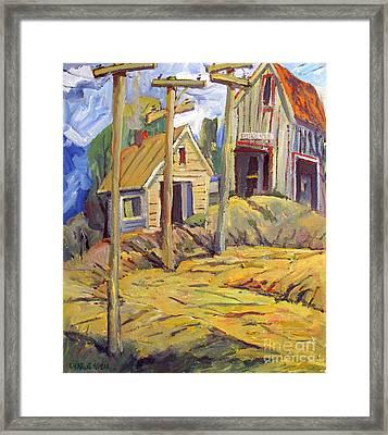 Gold Mining Town Eisendorfs Big Vein Mine Framed  Framed Print by Charlie Spear