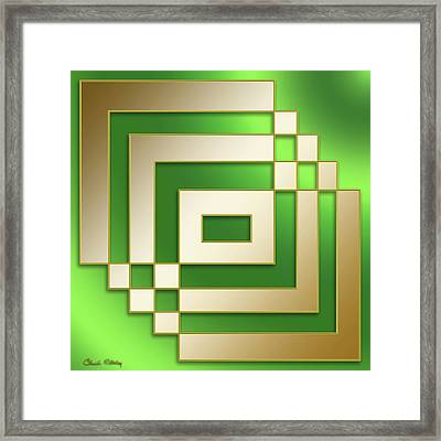 Gold On Green - Chuck Staley Framed Print
