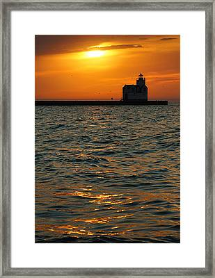 Gold On The Water Framed Print by Bill Pevlor