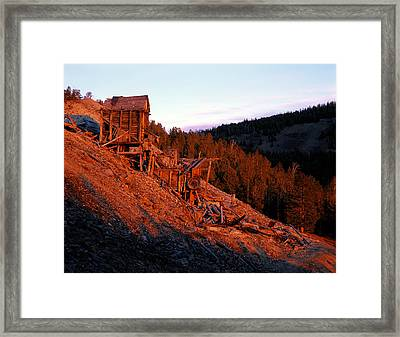 Gold Or Stone Framed Print by Leland D Howard