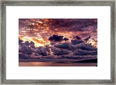 Gold, Orange And Lavender  Framed Print