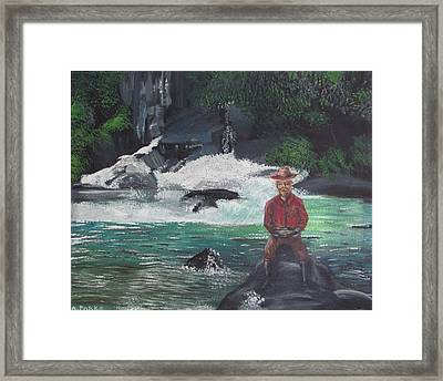 Gold Panning Framed Print