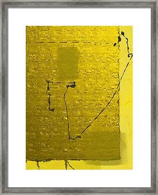 Gold Parchment Framed Print