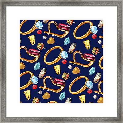 Gold Party  Framed Print