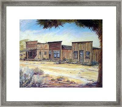 Gold Point Nevada Framed Print by Evelyne Boynton Grierson