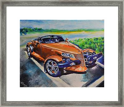 Gold Prowler Framed Print