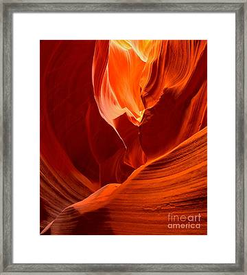 Gold Red And Orange Abstract Framed Print