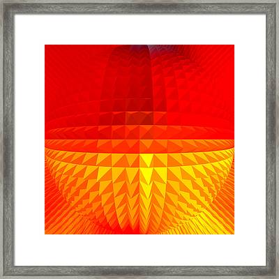 Gold-red Globe Framed Print by Ramon Labusch