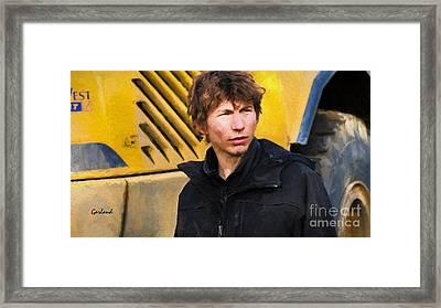 Gold Rush, Parker Schnabel Framed Print