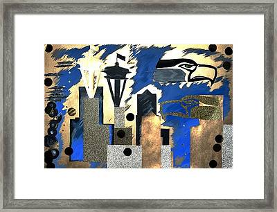 Gold Seatown Framed Print