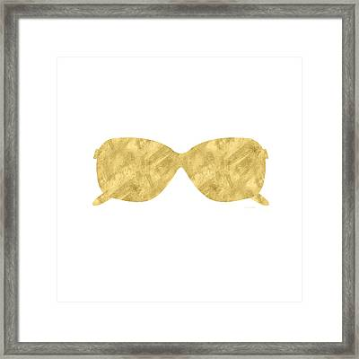 Gold Shades- Art By Linda Woods Framed Print by Linda Woods