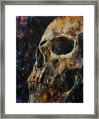 Gold Skull Framed Print by Michael Creese