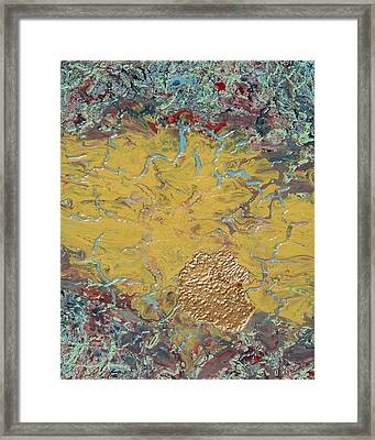 Gold Spot Framed Print