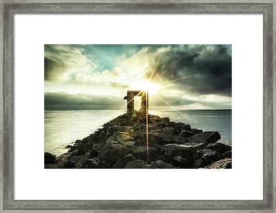 Gold Star Framed Print by Doug Barr