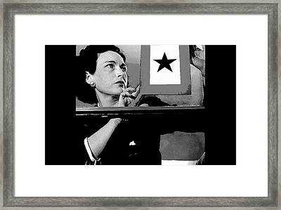 Gold Star Mother Mrs Harry B. England 1942 Color Added 2016 Framed Print by David Lee Guss