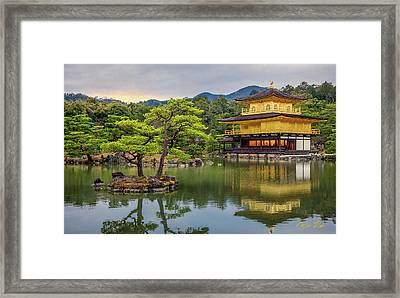 Framed Print featuring the photograph Gold Temple,  by Rikk Flohr