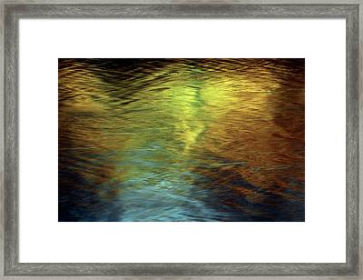 Framed Print featuring the photograph Gold To Blue by Kenneth Campbell