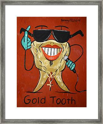 Gold Tooth Framed Print by Anthony Falbo