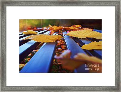 Gold Topped Table Framed Print