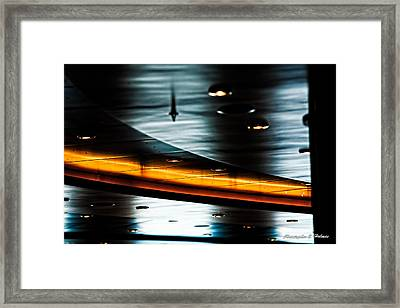 Gold Trace Framed Print by Christopher Holmes