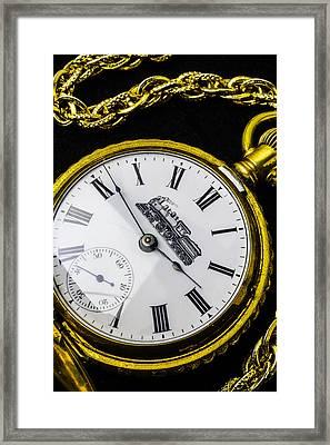 Gold Train Watch Framed Print by Garry Gay
