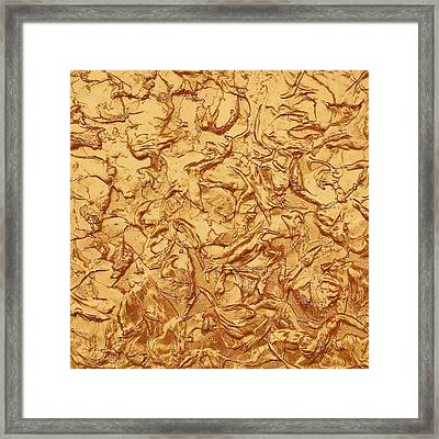 Gold Waves Framed Print