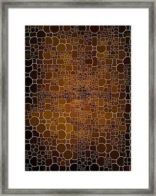 Gold Wonder Framed Print