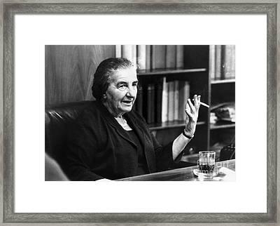 Golda Meir (1898-1978) Framed Print by Granger