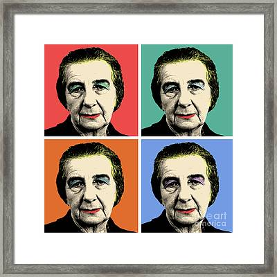Golda Meir Framed Print by Mark Ashkenazi