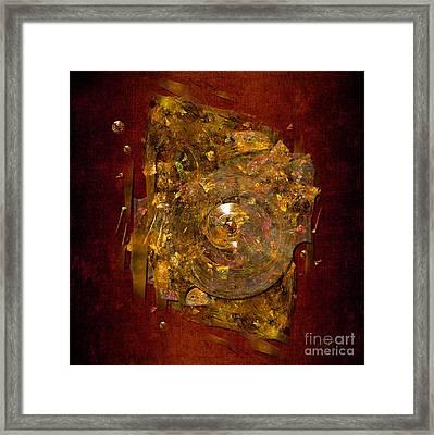 Framed Print featuring the digital art Golden Abstract by Alexa Szlavics