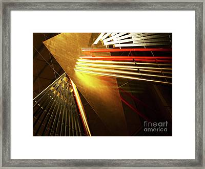 Golden Abstract Framed Print