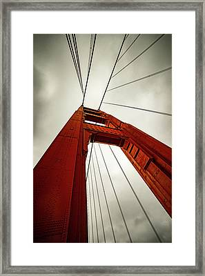 Golden Abstract Framed Print by Peter Irwindale