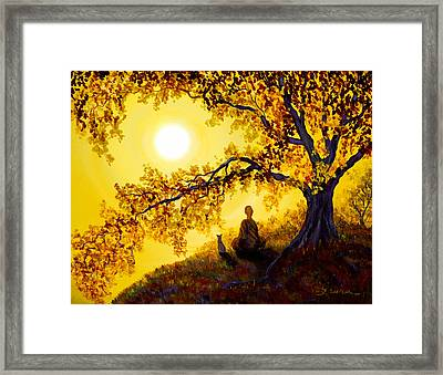 Golden Afternoon Meditation Framed Print by Laura Iverson