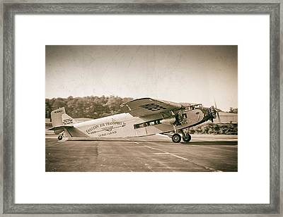 Golden Age Trimotor Framed Print
