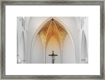 Golden Altar.. Framed Print