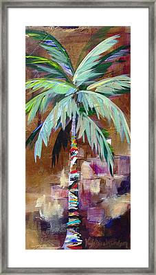 Golden Amethyst Palm Framed Print