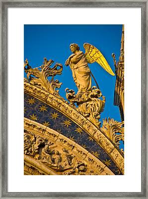 Golden Angel Framed Print