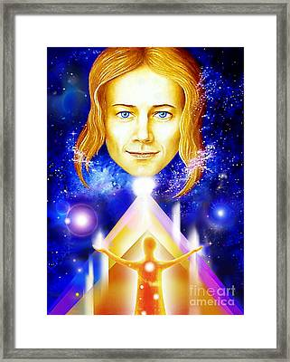 Framed Print featuring the painting Golden Angel by Hartmut Jager