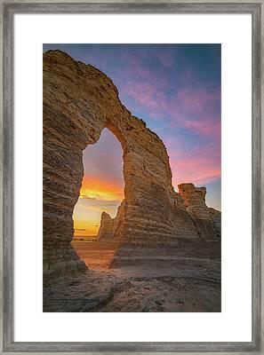 Golden Arch Of Kansas Framed Print by Darren White