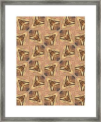 Golden Arrowheads Framed Print