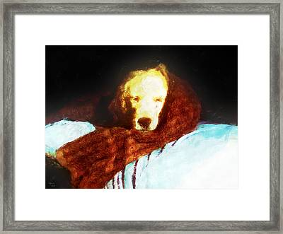Golden Aura Framed Print by Rora