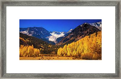 Framed Print featuring the photograph Golden Autumn Morning by Andrew Soundarajan