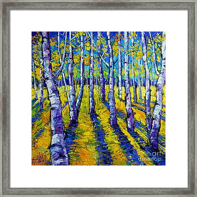Golden Autumn Symphony Framed Print