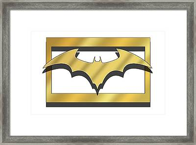 Golden Bat Framed Print