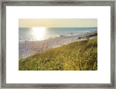Golden Beach Afternoon Framed Print