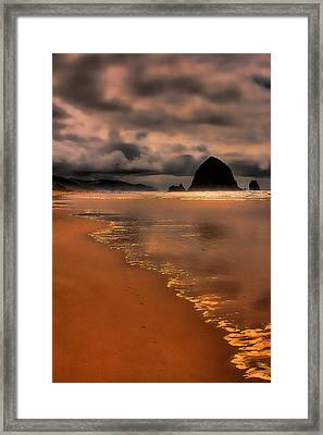 Golden Beach Framed Print by David Patterson