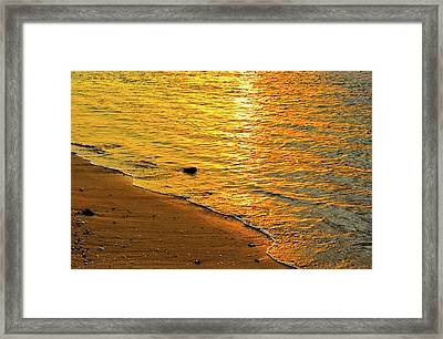 Golden Beach Sunset Framed Print by Stephen Anderson