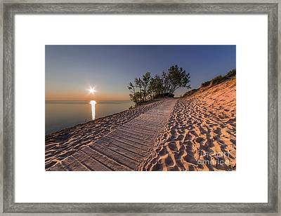 Golden Boardwalk Framed Print by Twenty Two North Photography