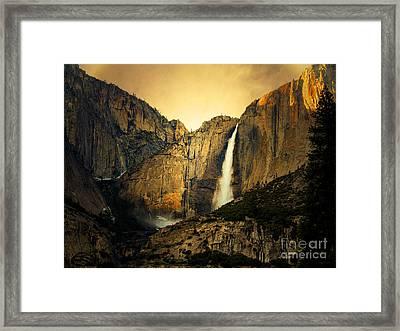 Golden Bridalveil Fall Framed Print