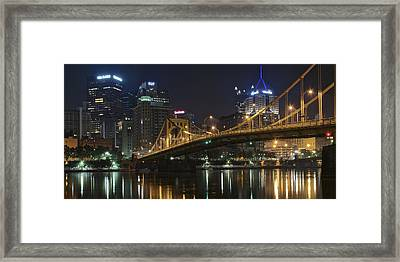 Golden Bridge Framed Print
